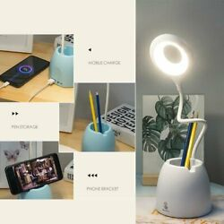 LED Desk Light Reading Lamp Dimmable Rechargeable Touch Control Phone Bracket $13.99