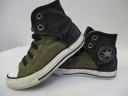 CONVERSE ALL STAR Boys Army Green Classic High Top Sneakers size 11 $9.95