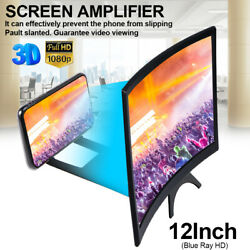3D HD Curved Folding Cell Phone Video Screen Amplifier 12inch Magnifier Stand US $10.95
