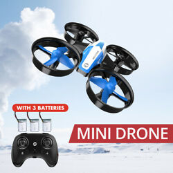 Holy Stone HS210 Mini Drone Helicopter 3 Battery 3D Flip RC Quadcopter for Kids $25.99