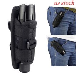 US Stock Duty Belt Flashlight Holster Tactical Expandable Torch Pouch Holder $9.14