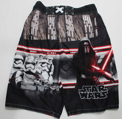 Boys STAR WARS Swim Shorts SIZE Large L Kylo Ren Stormtroopers First Order $6.99
