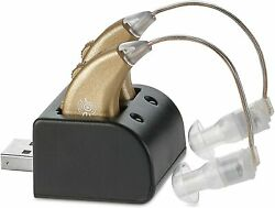 2 Digital Hearing Aids USB Rechargeable Pair Sound Amplifier Behind The Ear BTE $58.99