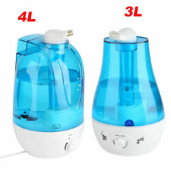 Ultrasonic Cool Mist Humidifier 3L 4L Portable Home Office Room Double nozzle US $17.99