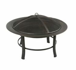 Mainstays Outdoor Freestanding 28 inch Steel Fire Pit with Wire Mesh Screen $59.95