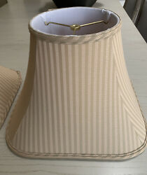 Pair of fabric lamp shades In Excellent Condition $21.00