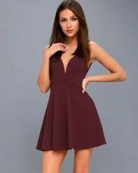 LuLus Love Galore Skater Dress Party Cocktail Size SMALL in Plum $19.99