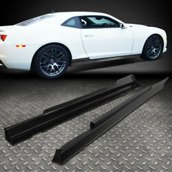 FOR 2010 2015 CHEVY CAMARO ZL1 STYLE PAIR SIDE SKIRTS PANEL EXTENSION BODY KIT $216.88