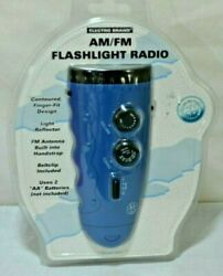Electro Brand AM FM Flashlight Radio **NEW** in package $11.99
