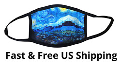 Stylish Face Mask Lightweight Washable Material Starry Night Van Gogh $8.95