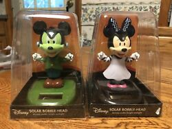 Large Solar Powered Dancing Toy New Disney Minnie Mickey Mouse HALLOWEEN Set