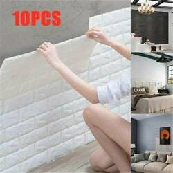 10Pcs Simple 3D Foam Stone Brick Self adhesive Home Wall Sticker Panels Pad US $14.91