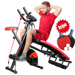 Combination Fitness Machine Indoor Cycling Bike Abdominal Trainers Home amp;Workout $269.89