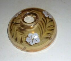 ANTIQUE Chandelier Lamp BOBECHE 5quot; DIAMETER 2quot; Tall HAND PAINTED 6 PIN HOLE $10.00