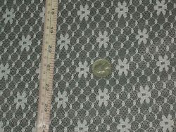 White tulle lace fabric floral hexagon meshed soft material By the yard 63quot;w $9.99