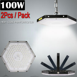 2 Set 100W LED High Bay Light Factory Warehouse Commercial Lighting Chandelier