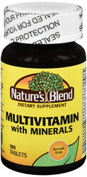 Nature#x27;s Blend Multi Vitamin With Minerals Tablets 100 ct $9.14