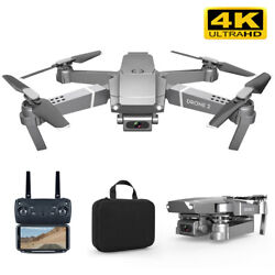 E68 WIFI FPV Mini Drone HD 4K 1080P Camera Mode RC Foldable Quadcopter Dron Set $47.19