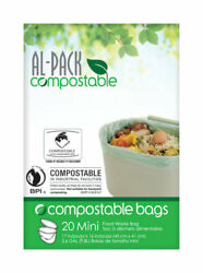 Al Pack Compostable Kitchen Food Waste 2.6 gal. Compost Bags Flat Top 20 pk $10.27