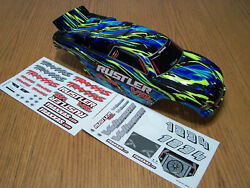 Traxxas VXL Brushless Rustler Blue Yellow Black Painted Body amp; Decals Shell XL 5 $31.75