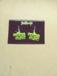 New Kids On The Block NKOTB Earrings NEW GREEN AND YELLOW $5.00