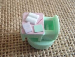 Vintage Polly Pocket Bluebird 1992 Stampin#x27; School Stamping Green Desk Stamper $10.99