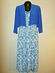 Medium Antthony Women#x27;s Paisley Printed Maxi Dresses with Cropped Jacket New $18.99