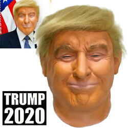 Realistic Donald Trump Mask Costume Cosplay Party Celebrity Latex Mask Halloween $19.80