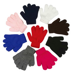Wholesale Kid#x27;s Winter Gloves Kids Black Gloves Bulk Kid#x27;s Winter Gloves 12 Pair $14.98