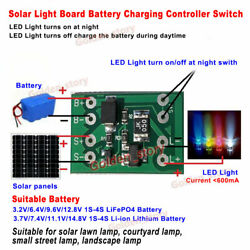 Automatic Solar Panel Battery Charger Module Night Light LED Lamp On OFF Switch $3.35