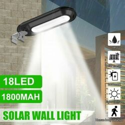 Outdoor Commercial 18 LED Solar Street Light IP65 Waterproof Dawn Wall Lamp US