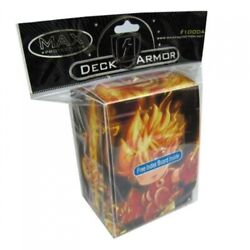 MAX PROTECTION ARMOR GAMING CARDS DECK BOX FIRE BOY FIT MTG $3.99