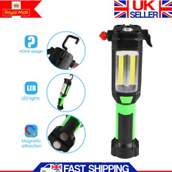 High Power Lumens Magnetic Tactical Flashlight LED Rechargeable Torch Headlamp GBP 17.99
