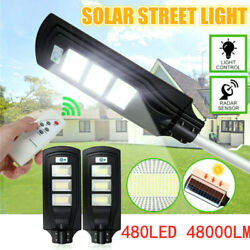 480W Commercial Solar Street Light LED Outdoor IP67 Dusk to Dawn Road Lamp