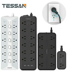 Multi Outlets Surge Protector Power Strip With 3 USBFlat Plug Extension Cord $28.99