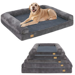 Jumbo Orthopedic Pet Dog Bed Extra Large Dog Bolster Sofa Bed Removable Cover XL $79.93