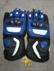 Suzuki Leather Gloves Bikers Gloves Riders Gloves Leather Motorcycle Customized AU $399.00