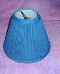 Vintage Small Lampshade Blue Fabric Lamp Drum Shade $10.00