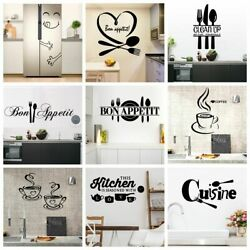 Kitchen Wall Stickers Large Home Decals Vinyl Mural Wallpaper Poster 22 Styles $17.19