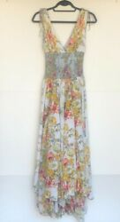 Free People Maxi Dress XS Pink and Yellow Floral Worn Once Mint Condition $45.99
