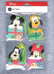 MICKEY MINNIE GOOFY amp; PLUTO GIFT TAGS SET OF 8 CUTE NIP FREE SHIPPING $5.00