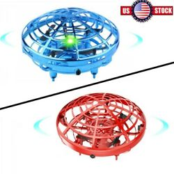 Mini Drone Quad Induction Levitation Hand Operated Helicopter UFO Toy Red Blue $11.99