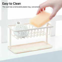 Sponge Sink Tidy Holder Kitchen Bathroom Storage Rack Strainer Organizer Tools $5.99