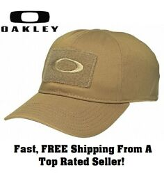 Oakley SI Standard Issue COYOTE Brown Tan Tactical Morale Patch Flex Fit Hat Cap $24.89