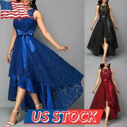 Women Evening Party Lace Sleeveless Long Dress Cocktail Ball Prom Gown Plus Size $40.29