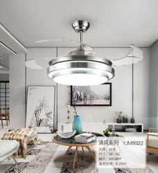 LED 42quot;Invisible Ceiling Fan Light Dining Room Chandelier Lamp.Remote controlTS $107.99