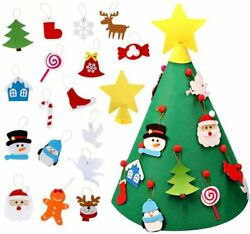 3D DIY 18 inch Felt Christmas Tree with 18Pcs Hanging Ornaments Kids Xmas Gifts $9.99