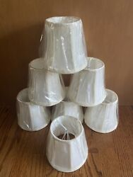 Chandelier Shades Set Of 7 Cream Color Still In Wrapping Never Used. $35.00
