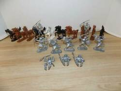 Vintage Lot of Knights and Horses Playset Figures $24.99