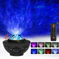 LED Galaxy Starry Night Light Projector Ocean Star Sky Party Speaker Lamp Remote $35.99